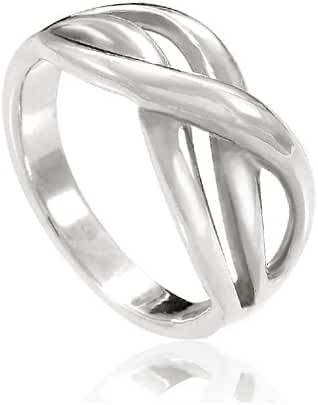 925 Sterling Silver Double Infinity Together Forever Ring - Nickel Free